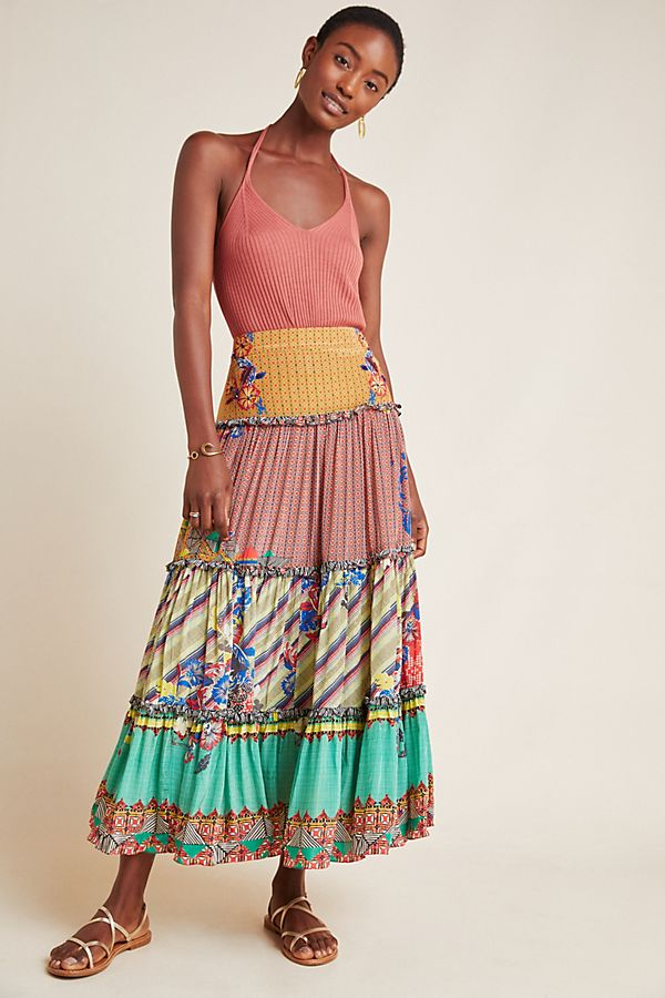 Slide View: 2: Ruth Embellished Maxi Skirt