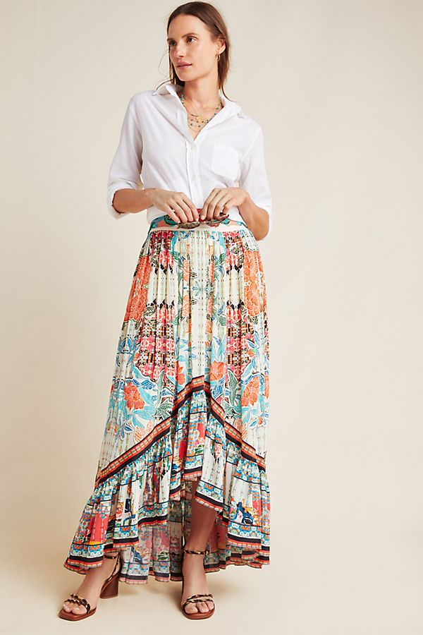 Slide View: 1: Olivia Floral Maxi Skirt