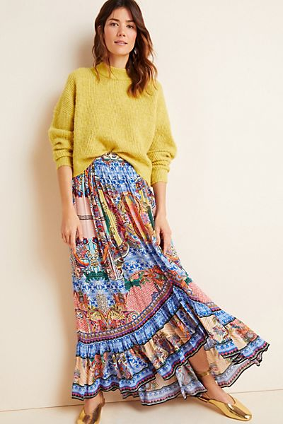 Allaire High-Low Maxi Skirt