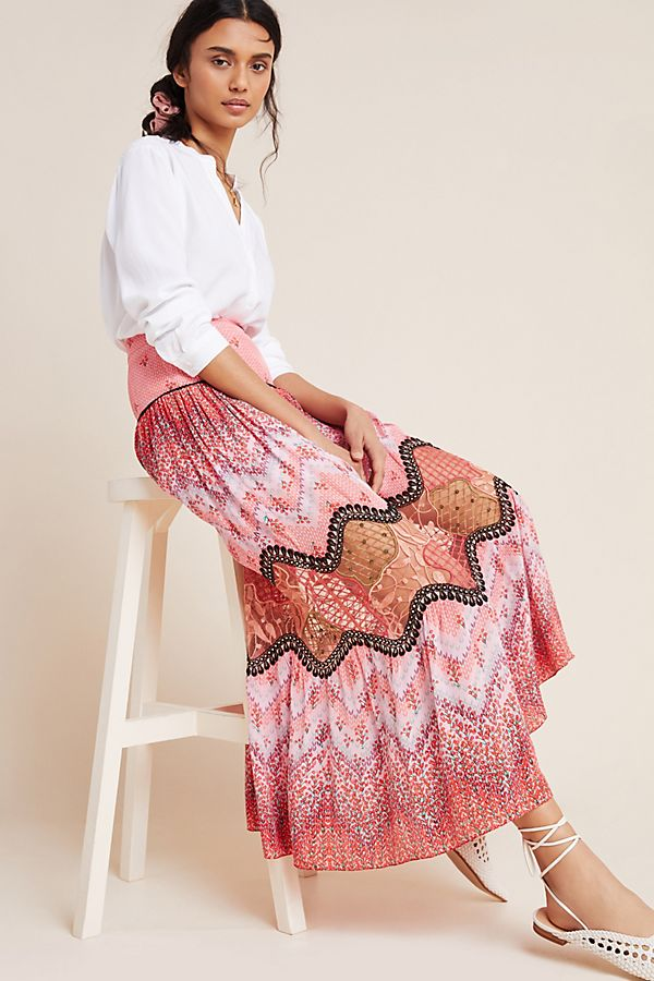 Slide View: 1: Haylie Lace Maxi Skirt