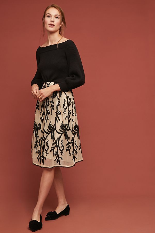 e85bad2666ef4 Embroidered Tulle Skirt | Anthropologie