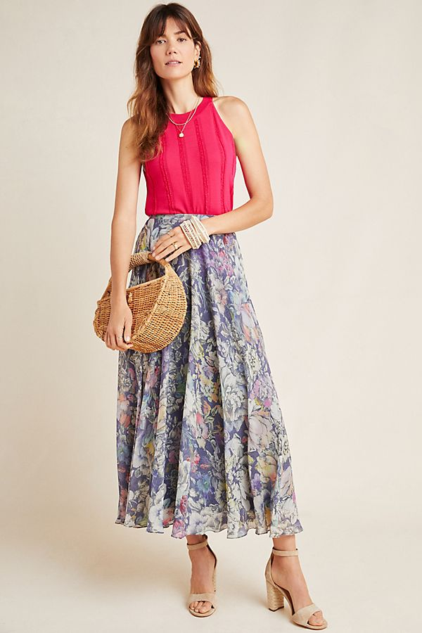 Slide View: 1: Miele Floral Midi Skirt