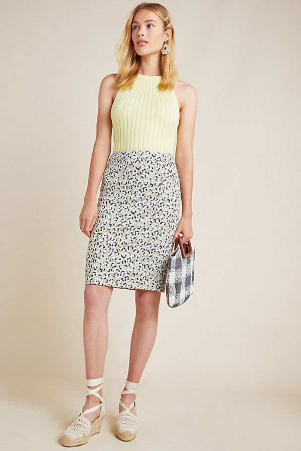 Slide View: 1: Leopard Jacquard Skirt