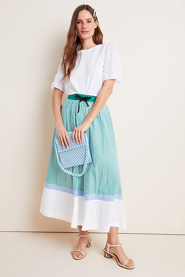 Slide View: 1: Charley Colorblocked A-Line Maxi Skirt
