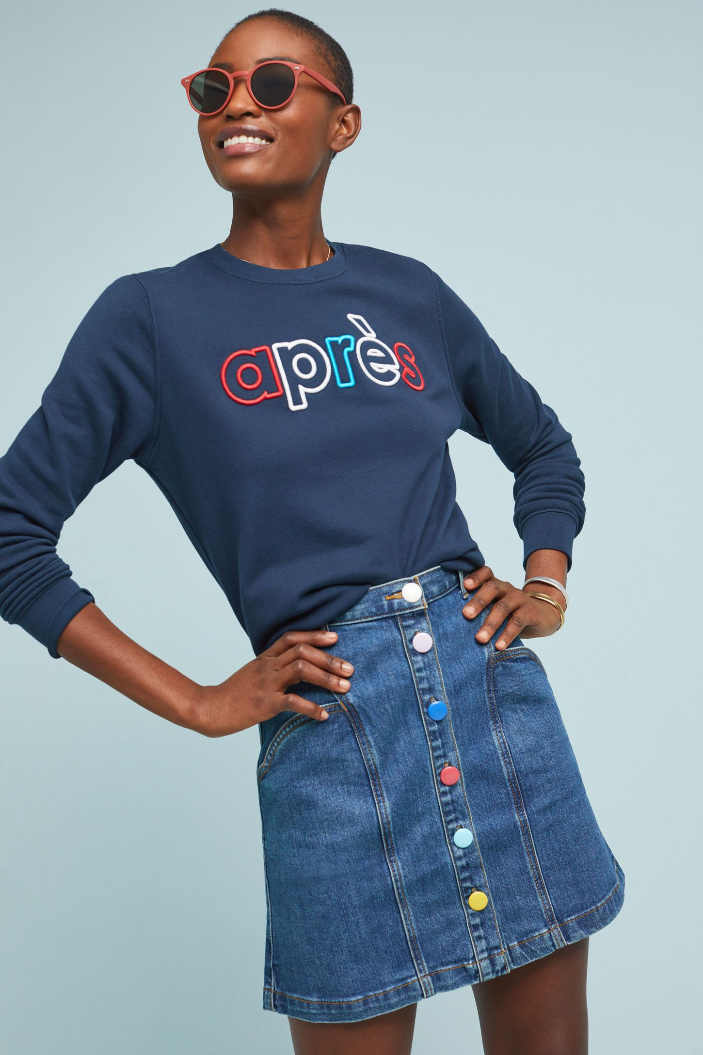 70433deaa7d5 Pilcro Buttondown Denim Skirt | Anthropologie