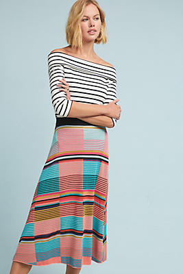 Slide View: 1: Colorblocked Sweater Skirt