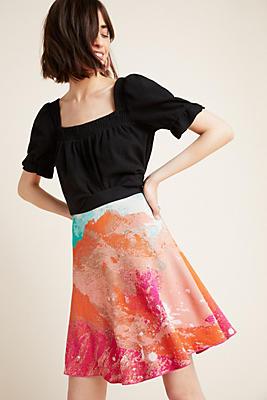 Slide View: 1: Abstract Scene Sweater Skirt