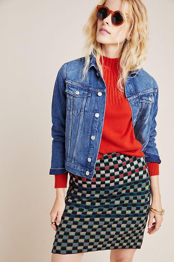 Slide View: 1: Stevani Knit Pencil Skirt