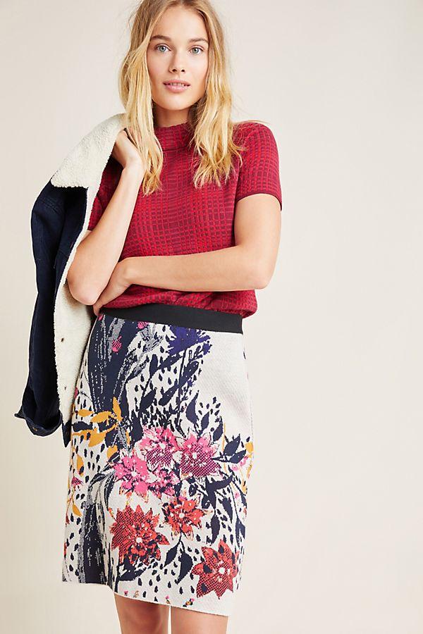 Slide View: 1: Beatriz Knit Mini Skirt