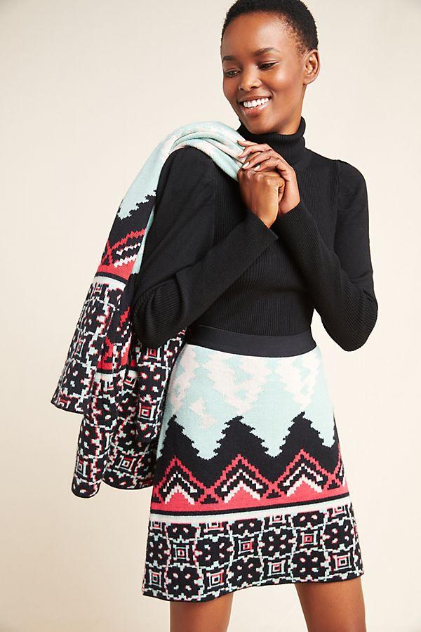 Slide View: 1: Hermosa Sweater Mini Skirt