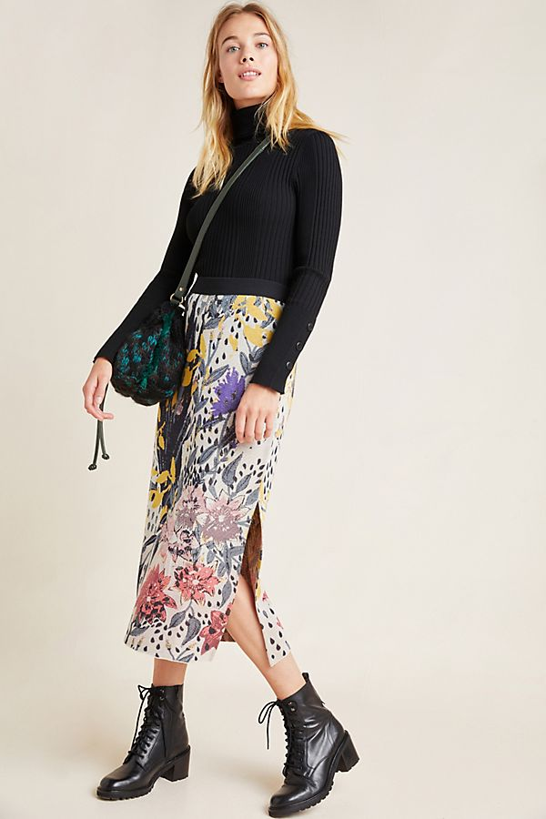 Slide View: 1: Teodora Knit Pencil Skirt