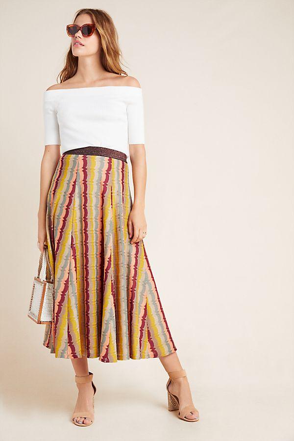Slide View: 1: Cilla Striped Maxi Skirt