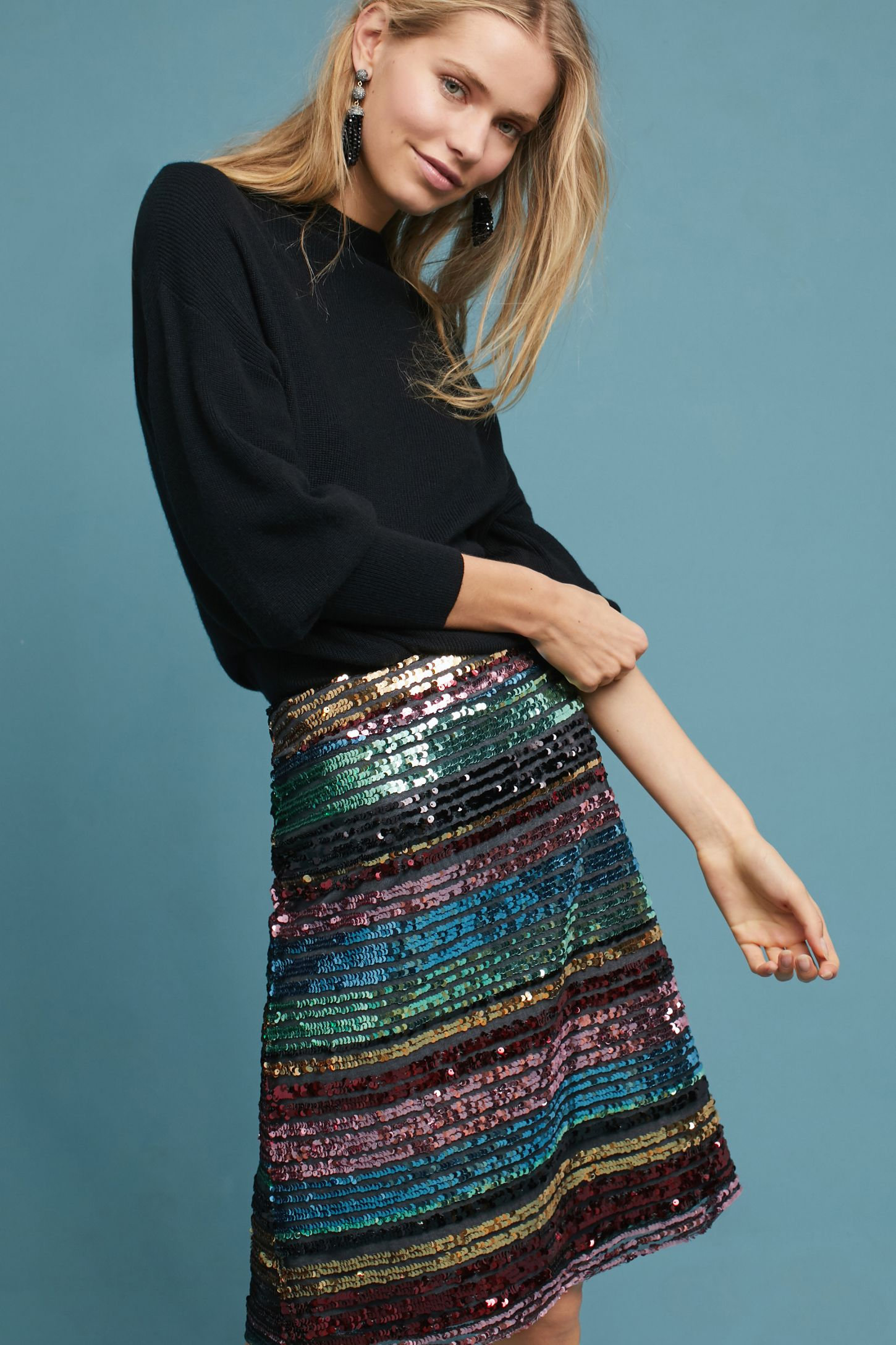 0fa6c226c04f Sequined Soiree Skirt | Anthropologie
