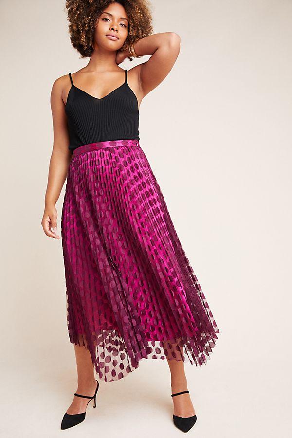 Slide View: 1: Phoebe Pleated Midi Skirt