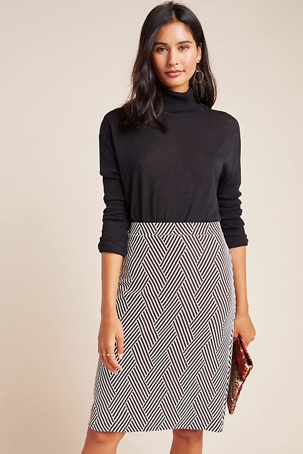Slide View: 1: Lidia Knit Pencil Skirt