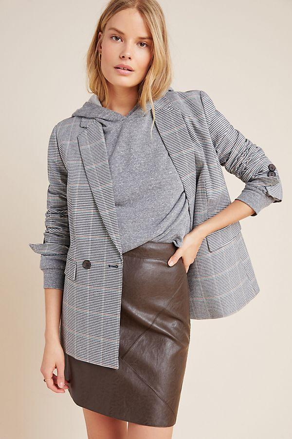 Slide View: 1: Hallie Faux Leather Mini Skirt
