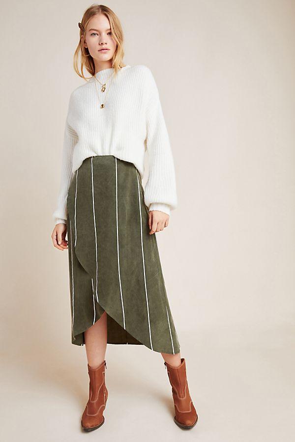 Slide View: 1: Penny Striped Midi Skirt
