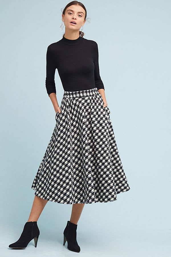 8770449c6 Houndstooth Midi Skirt | Anthropologie