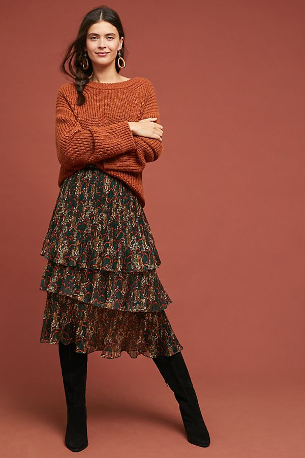 39f9a433b2f24 Tiered Tiger Skirt | Anthropologie