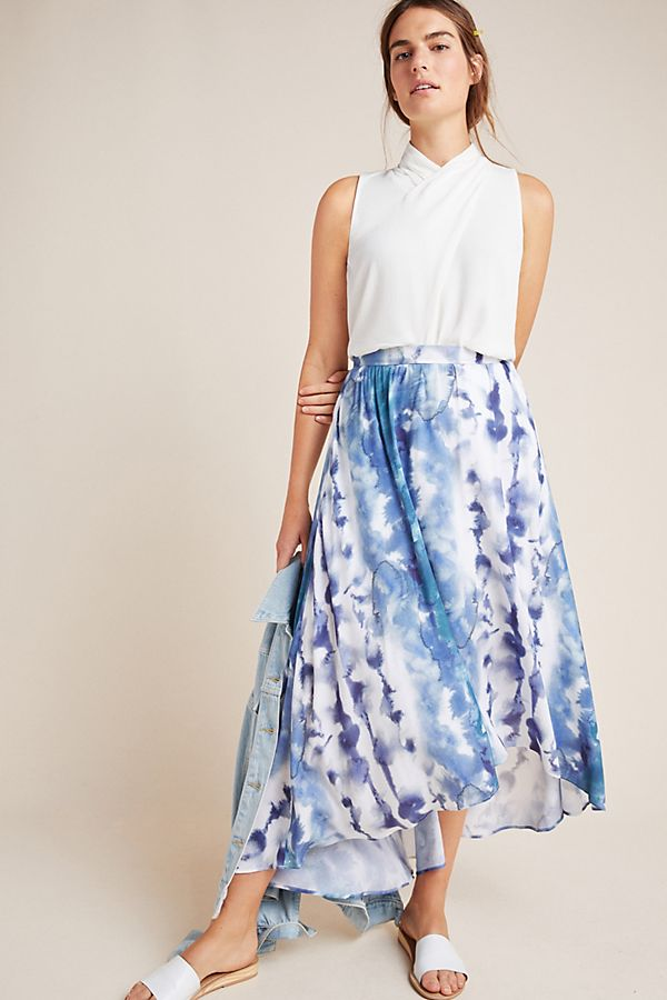 Slide View: 1: Jeannie Tie-Dyed Maxi Skirt