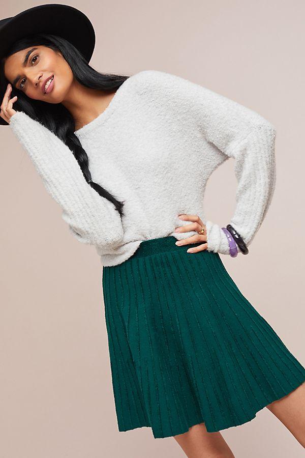 8cf71ee9f Sweater-Knit Skater Skirt | Anthropologie