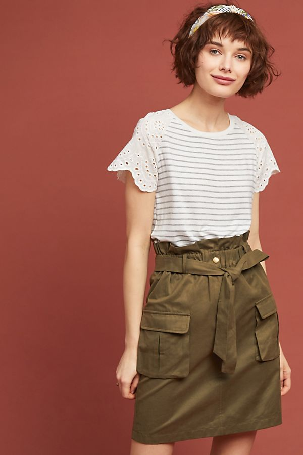 69fa259c5f Paperbag-Waisted Utility Skirt | Anthropologie