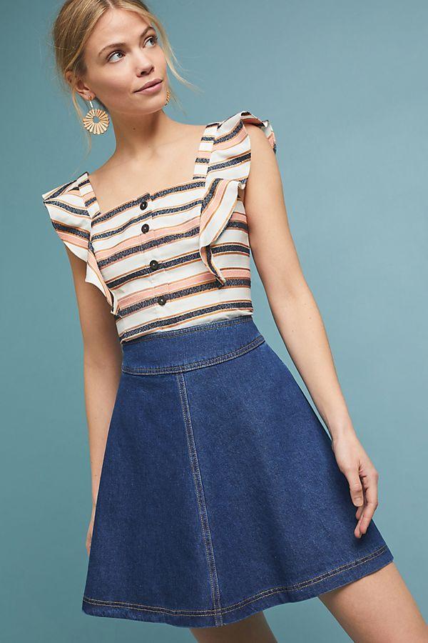08690fca87c pilcro-denim-skater-skirt by pilcro-and-the-letterpress