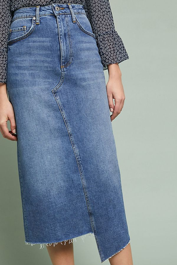 40edba5449 Pilcro Denim Midi Skirt | Anthropologie