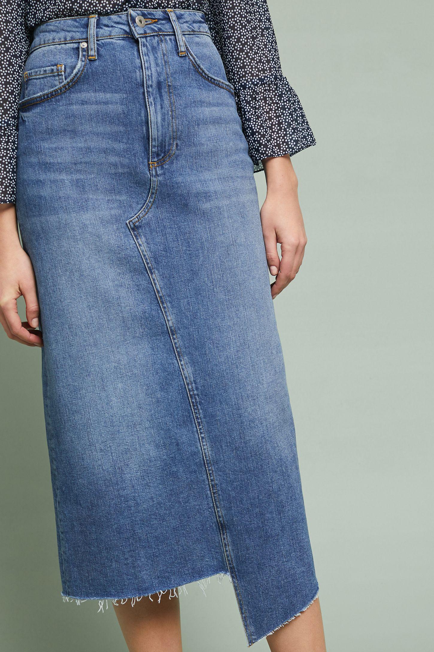 2359f752871 Pilcro Denim Midi Skirt