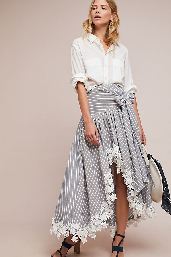 cd56863dc Piccadilly Striped Skirt   Anthropologie