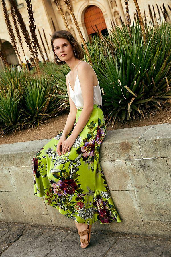 Slide View: 1: Arden Floral Maxi Skirt