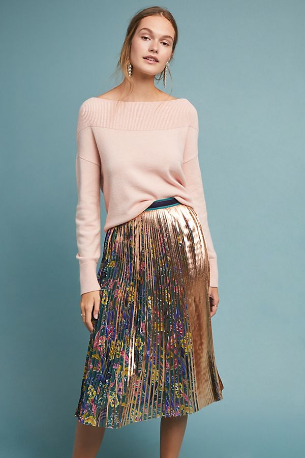 4f1b9af032 Metallic Printed Pleated Skirt | Anthropologie UK