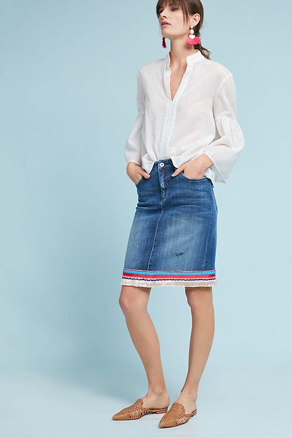 c5f9d39d1cd Pilcro Trimmed Denim Skirt