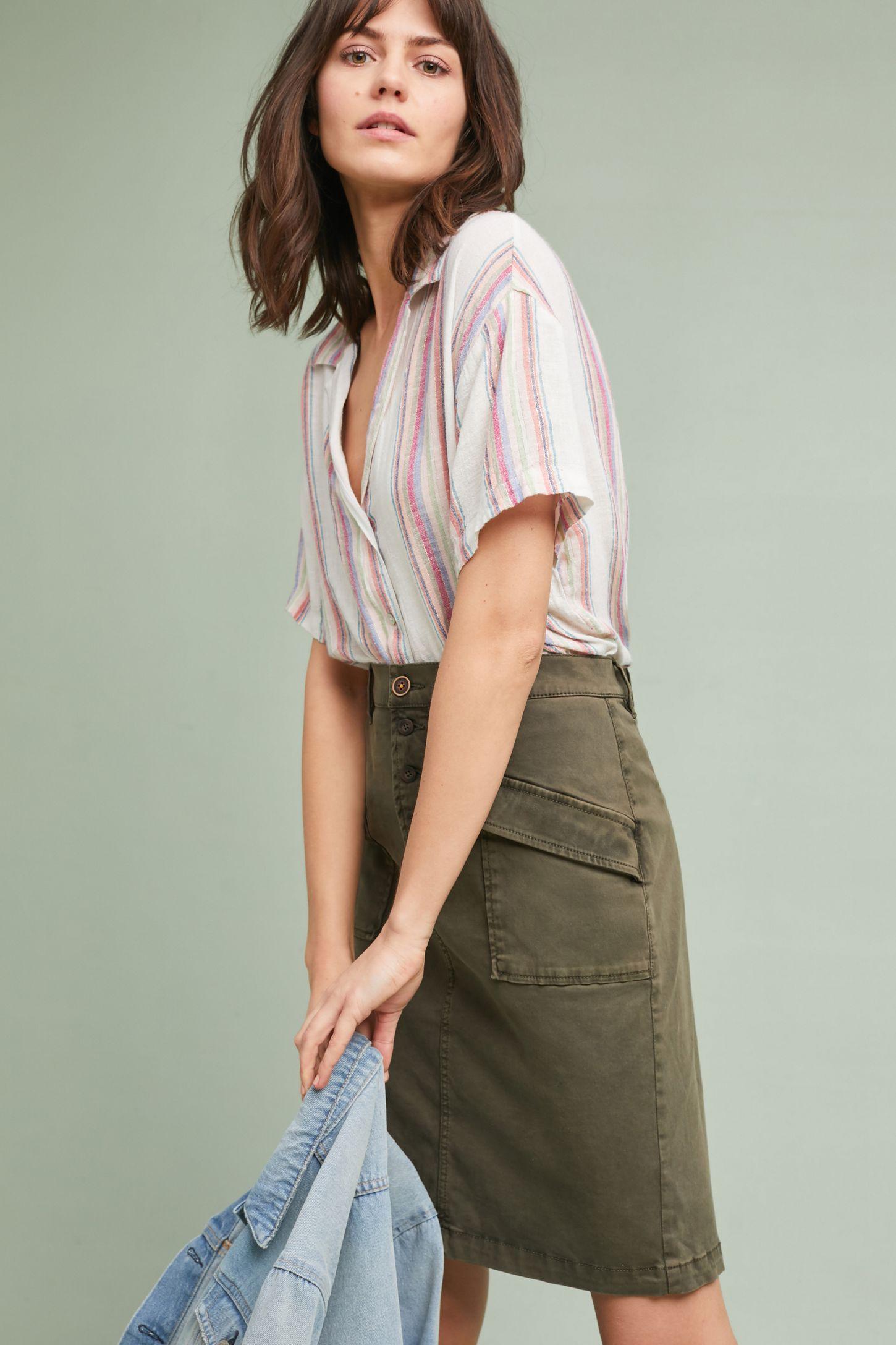8f4783f45f1b9 Pilcro Chino Pencil Skirt
