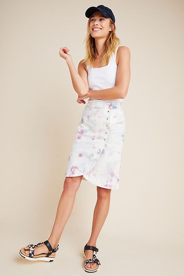 Slide View: 1: Kimmie Tie-Dyed Tulip Midi Skirt