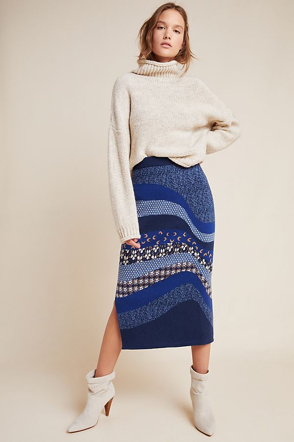 Slide View: 1: Lavinia Sweater Pencil Skirt