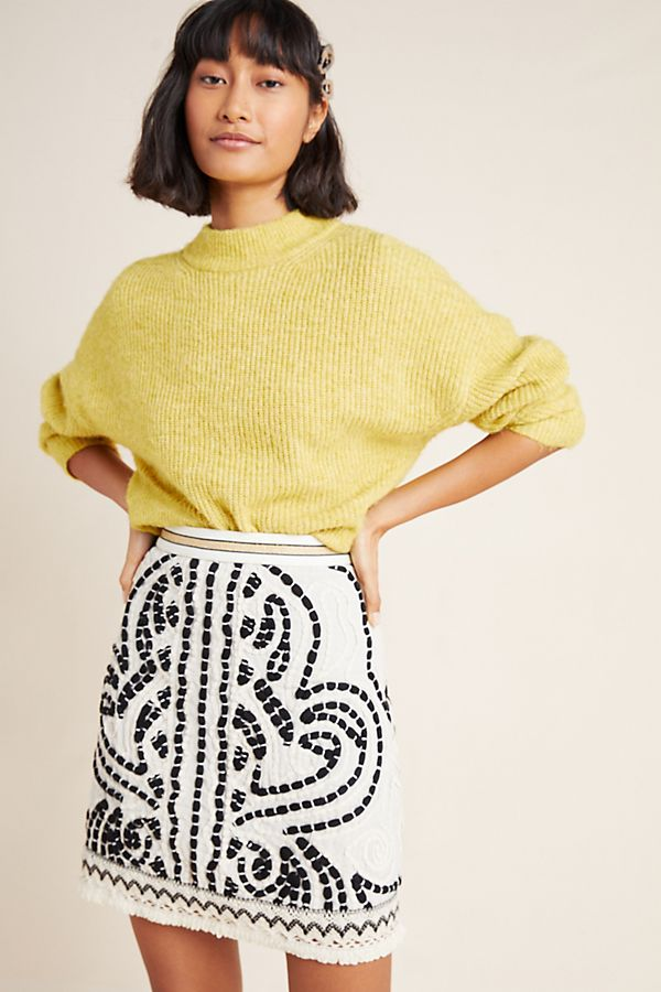 Slide View: 1: Carys Embroidered Mini Skirt