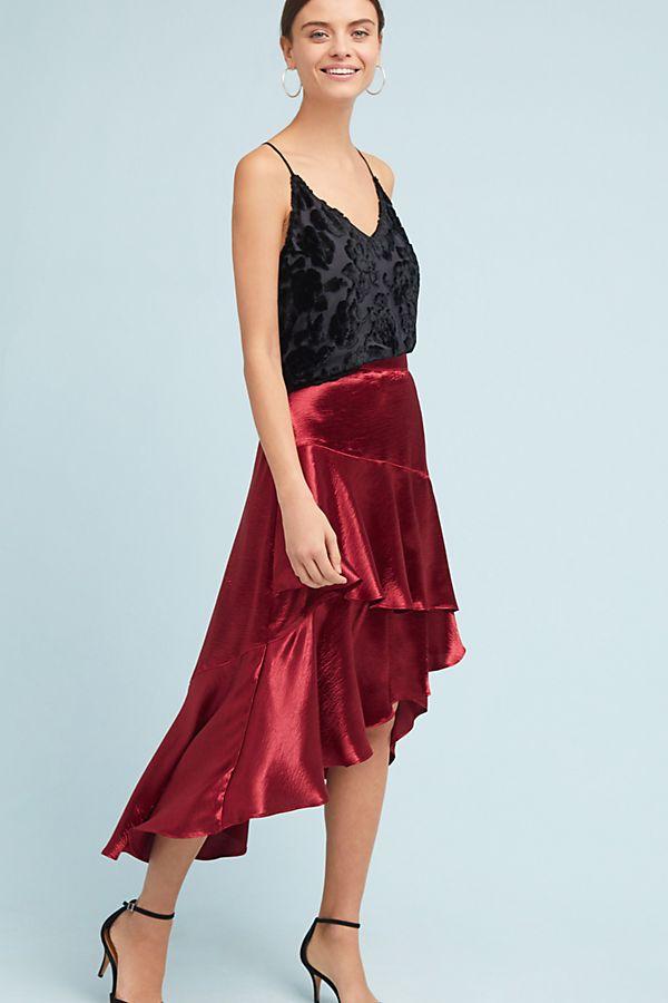 248c421261c0 Tiered Satin Maxi Skirt | Anthropologie