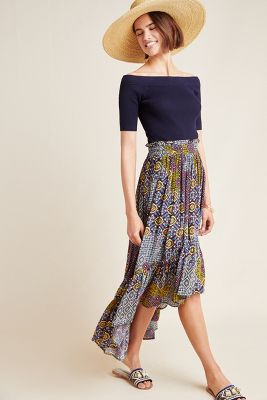Carlotta Midi Skirt by Anthropologie