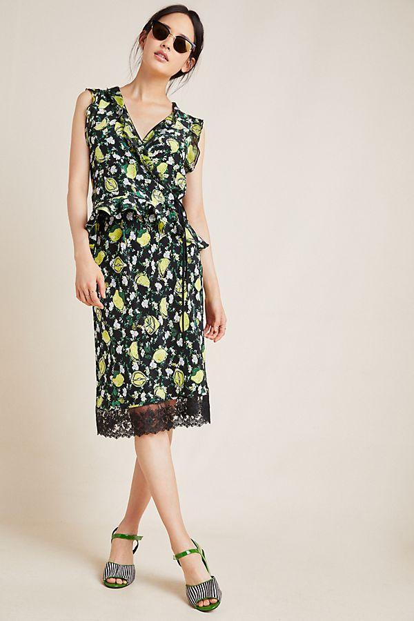 Slide View: 1: Diane von Furstenberg Clara Silk Midi Skirt
