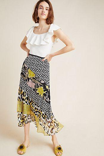 c6f619b227ec Diane von Furstenberg Darcie Silk Midi Skirt