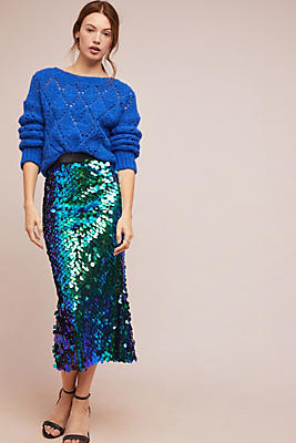 Iridescent Sequin Skirt by Lenon