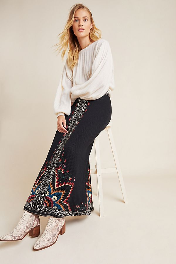 latest style of 2019 official supplier hot new products Farm Rio Mixed-Print Maxi Skirt