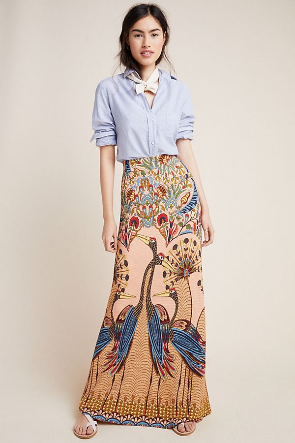 e78abb195 Farm Rio Mixed-Print Maxi Skirt | Anthropologie