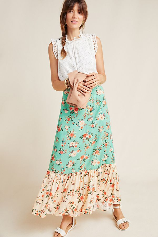 Slide View: 1: Farm Rio Marcia Maxi Skirt