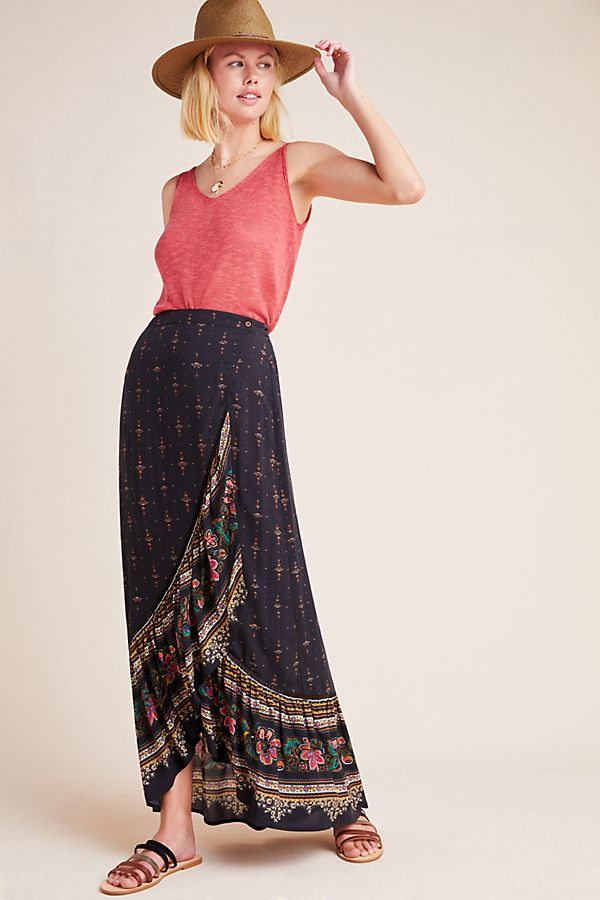 Slide View: 1: Farm Rio for Anthropologie Bianca Midi Skirt
