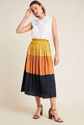 c5892763f2 Andromeda Maxi Skirt. $140.00. Merrigan Tiered Midi Skirt