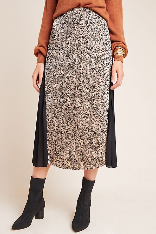 Slide View: 3: Riley Leopard Midi Skirt