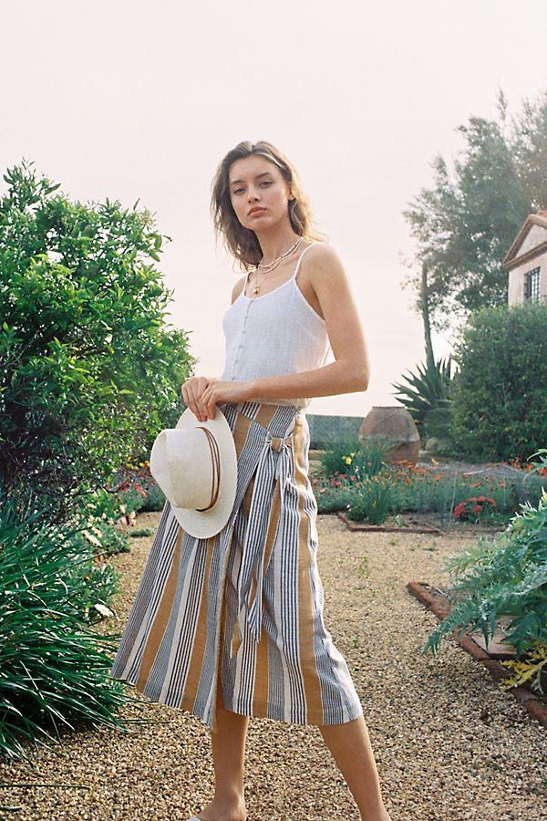 Slide View: 1: Laura Wrap Midi Skirt