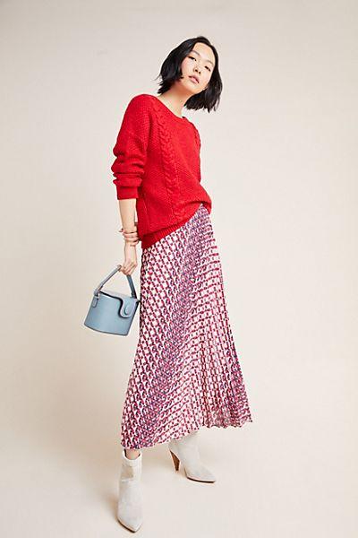 Hildi Pleated Midi Skirt
